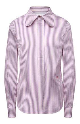 Женская рубашка из хлопка и шелка VICTORIA BECKHAM сиреневого цвета, арт. 1121WSH002516A | Фото 1