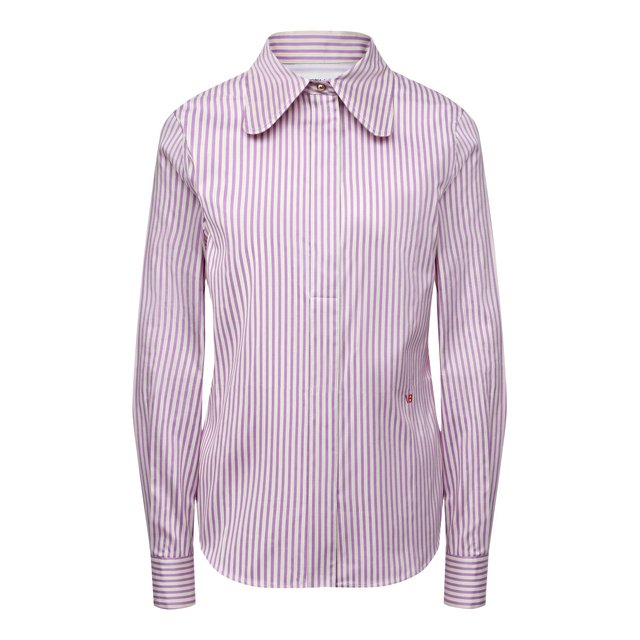 Рубашка из хлопка и шелка Victoria Beckham