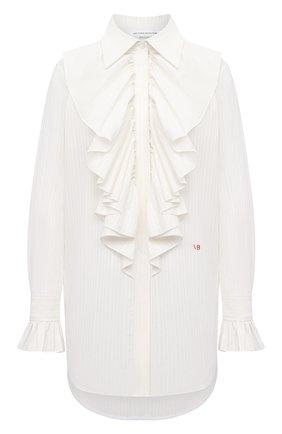 Женская хлопковая блузка VICTORIA BECKHAM белого цвета, арт. 1121WSH002331A | Фото 1