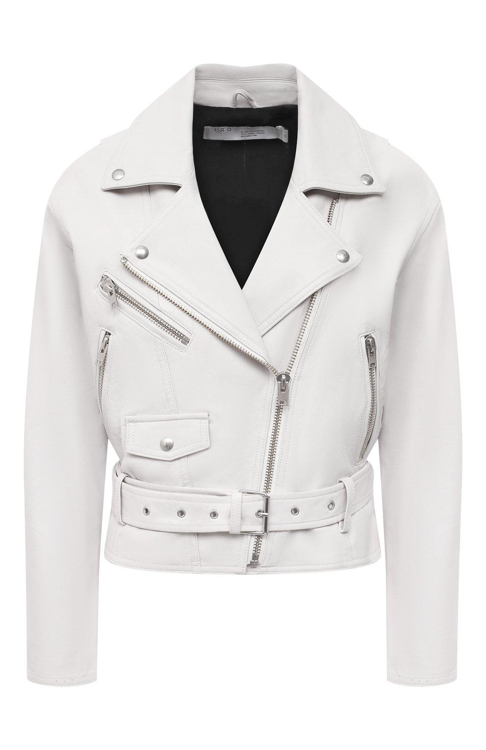 Женская кожаная куртка IRO белого цвета, арт. WP09DISTHEN | Фото 1