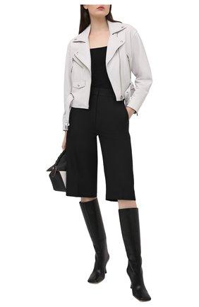 Женская кожаная куртка IRO белого цвета, арт. WP09DISTHEN | Фото 2