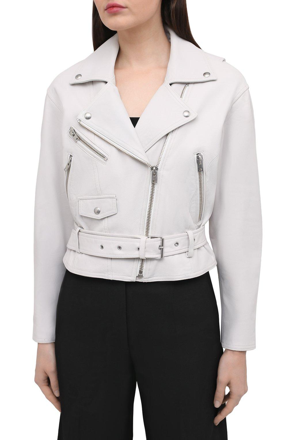 Женская кожаная куртка IRO белого цвета, арт. WP09DISTHEN | Фото 3