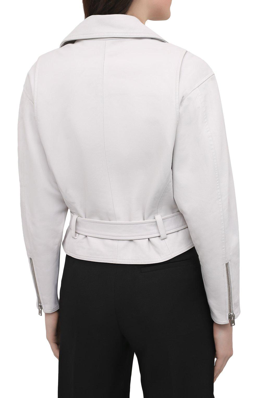 Женская кожаная куртка IRO белого цвета, арт. WP09DISTHEN | Фото 4