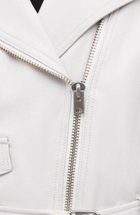 Женская кожаная куртка IRO белого цвета, арт. WP09DISTHEN | Фото 5
