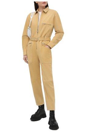 Женский замшевый комбинезон IRO желтого цвета, арт. WP28SCAREL | Фото 2