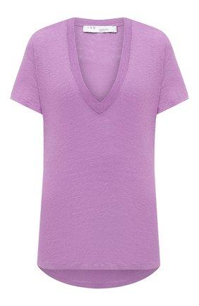 Женская льняная футболка IRO фиолетового цвета, арт. WP19HEL0ISE | Фото 1