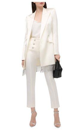 Женские брюки GIUSEPPE DI MORABITO белого цвета, арт. SS21024PA-109 | Фото 2