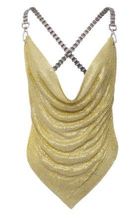 Женский топ GIUSEPPE DI MORABITO золотого цвета, арт. SS21071T0-134 | Фото 1