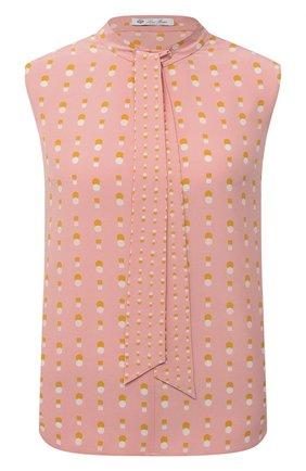 Женский шелковый топ LORO PIANA розового цвета, арт. FAL5357 | Фото 1