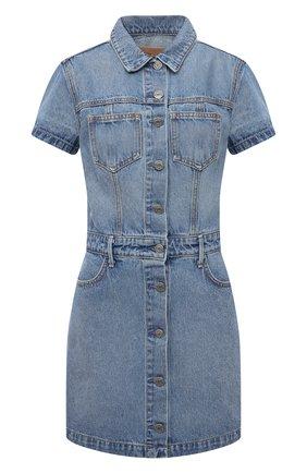 Женское джинсовое платье GRLFRND голубого цвета, арт. GF42708821079 | Фото 1