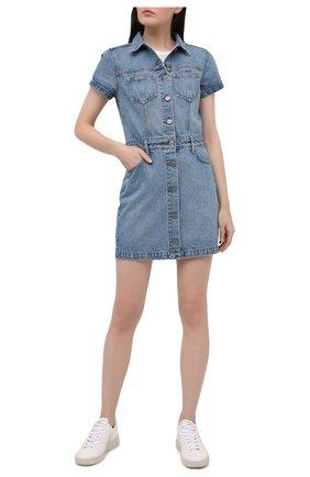 Женское джинсовое платье GRLFRND голубого цвета, арт. GF42708821079 | Фото 2