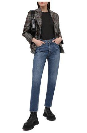 Женские джинсы GRLFRND голубого цвета, арт. GF41769711567 | Фото 2