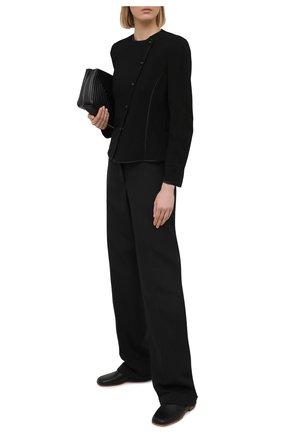Женский жакет из вискозы GIORGIO ARMANI черного цвета, арт. 3KAG70/AJFMZ | Фото 2
