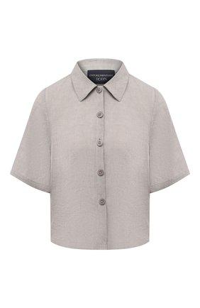 Женская льняная рубашка EMPORIO ARMANI бежевого цвета, арт. 0NG4LT/02061 | Фото 1