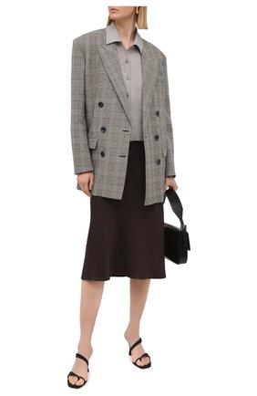 Женская льняная рубашка EMPORIO ARMANI бежевого цвета, арт. 0NG4LT/02061 | Фото 2
