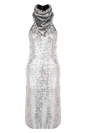 Женское платье с пайетками BOTTEGA VENETA серебряного цвета, арт. 648692/V0GT0 | Фото 1