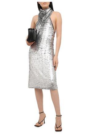 Женское платье с пайетками BOTTEGA VENETA серебряного цвета, арт. 648692/V0GT0 | Фото 2