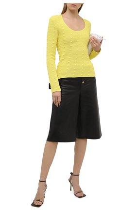 Женский хлопковый пуловер BOTTEGA VENETA желтого цвета, арт. 647743/V0DW0   Фото 2
