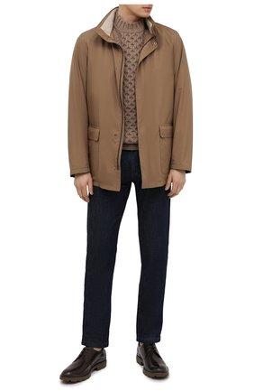 Мужские кожаные дерби TOD'S светло-коричневого цвета, арт. XXM04E00C20LYG | Фото 2 (Стили: Классический; Материал внутренний: Натуральная кожа)