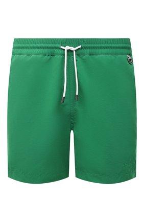 Мужские плавки-шорты RALPH LAUREN зеленого цвета, арт. 790828915   Фото 1 (Материал внешний: Синтетический материал; Мужское Кросс-КТ: плавки-шорты; Принт: Без принта)