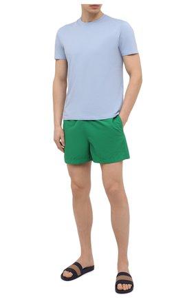Мужские плавки-шорты RALPH LAUREN зеленого цвета, арт. 790828915   Фото 2 (Материал внешний: Синтетический материал; Мужское Кросс-КТ: плавки-шорты; Принт: Без принта)