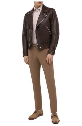 Мужские замшевые дерби BRUNELLO CUCINELLI коричневого цвета, арт. MZUNETU807   Фото 2