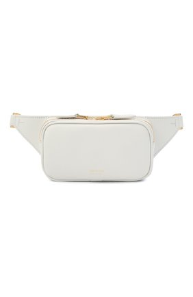 Мужская кожаная поясная сумка TOM FORD белого цвета, арт. Y0312T-LCL081 | Фото 1 (Ремень/цепочка: На ремешке; Материал: Натуральная кожа)