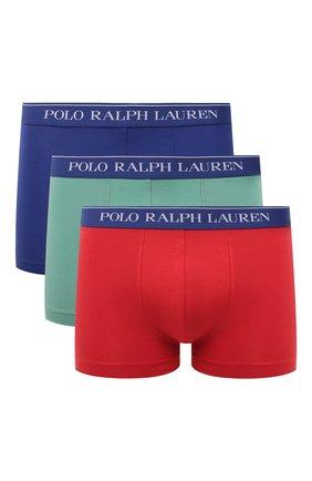 Мужские комплект из трех боксеров POLO RALPH LAUREN разноцветного цвета, арт. 714830299/005 | Фото 1
