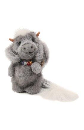 Детского игрушка бычок кирюша CAROLON серого цвета, арт. Ц-0463/110121 | Фото 1