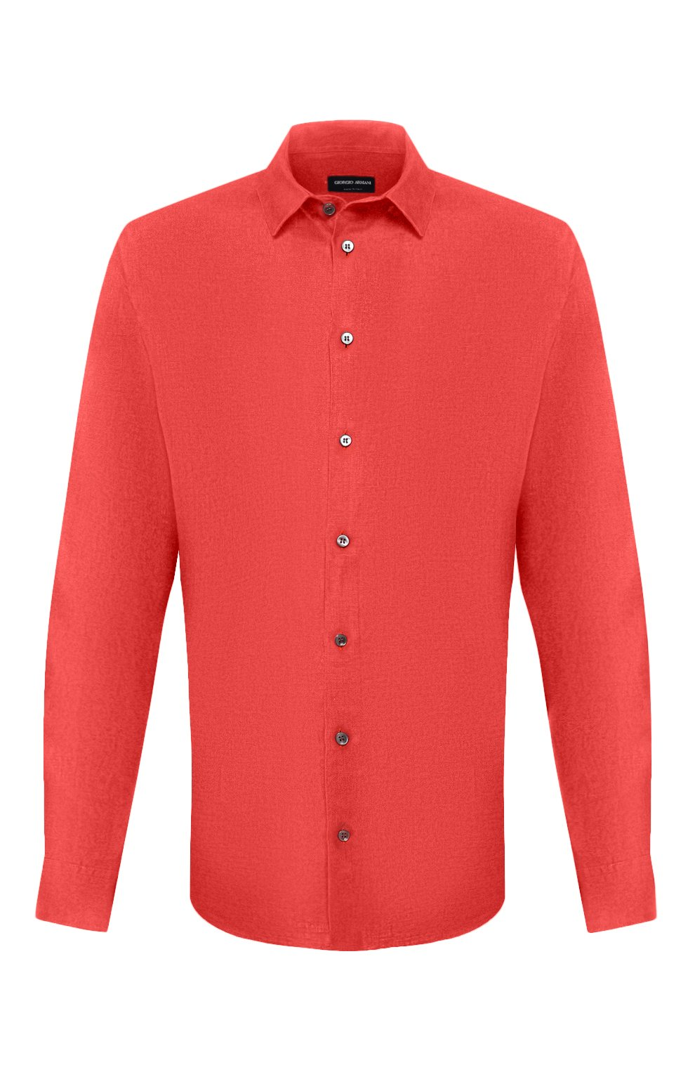 Мужская льняная рубашка GIORGIO ARMANI красного цвета, арт. 8WGCCZ97/TZ256   Фото 1