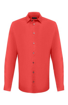 Мужская льняная рубашка GIORGIO ARMANI красного цвета, арт. 8WGCCZ97/TZ256 | Фото 1