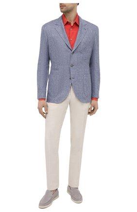 Мужская льняная рубашка GIORGIO ARMANI красного цвета, арт. 8WGCCZ97/TZ256 | Фото 2