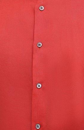 Мужская льняная рубашка GIORGIO ARMANI красного цвета, арт. 8WGCCZ97/TZ256   Фото 5