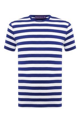 Мужская хлопковая футболка RALPH LAUREN синего цвета, арт. 790775617   Фото 1 (Рукава: Короткие; Стили: Кэжуэл; Материал внешний: Хлопок; Длина (для топов): Стандартные; Принт: С принтом)
