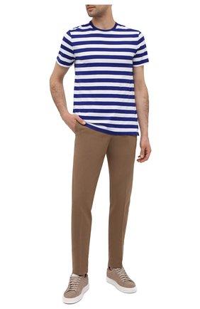 Мужская хлопковая футболка RALPH LAUREN синего цвета, арт. 790775617   Фото 2 (Рукава: Короткие; Стили: Кэжуэл; Материал внешний: Хлопок; Длина (для топов): Стандартные; Принт: С принтом)