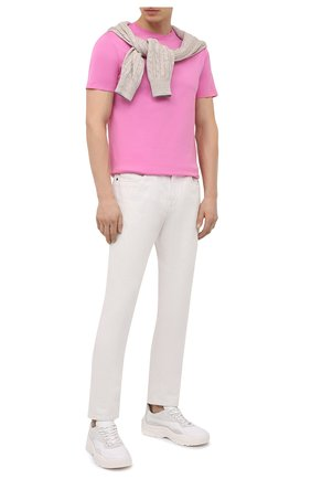 Мужская хлопковая футболка RALPH LAUREN розового цвета, арт. 790508153 | Фото 2