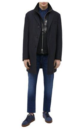 Мужское шерстяное поло JOHN SMEDLEY синего цвета, арт. D0RSET   Фото 2