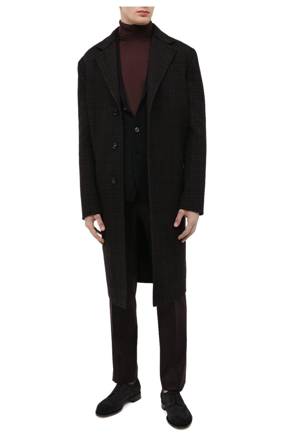 Мужской хлопковая водолазка JOHN SMEDLEY темно-коричневого цвета, арт. HAWLEY | Фото 2 (Рукава: Длинные; Принт: Без принта; Длина (для топов): Стандартные; Материал внешний: Хлопок; Мужское Кросс-КТ: Водолазка-одежда; Стили: Кэжуэл)