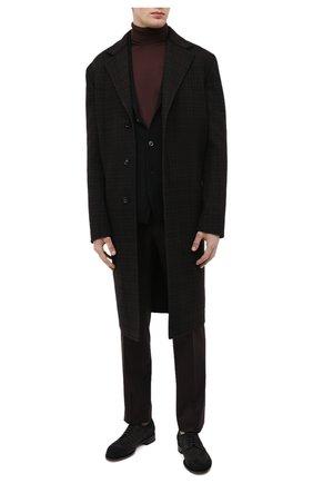 Мужской хлопковая водолазка JOHN SMEDLEY темно-коричневого цвета, арт. HAWLEY | Фото 2