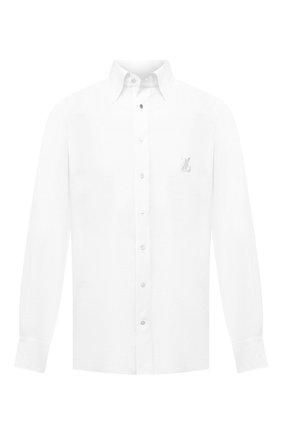 Мужская льняная сорочка ZILLI белого цвета, арт. MFV-13091-338562/0007   Фото 1