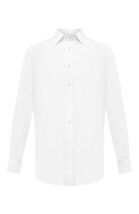 Мужская сорочка из хлопка и льна BRIONI белого цвета, арт. RCA20L/P708Y | Фото 1