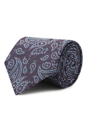 Мужской комплект из галстука и платка BRIONI фиолетового цвета, арт. 08A900/P0456 | Фото 1 (Материал: Шелк, Текстиль)