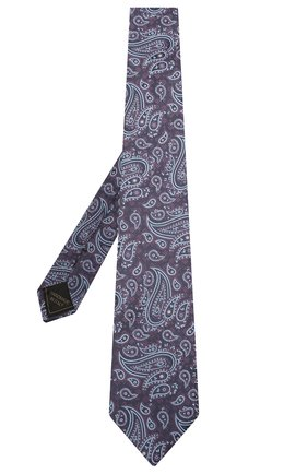 Мужской комплект из галстука и платка BRIONI фиолетового цвета, арт. 08A900/P0456 | Фото 2 (Материал: Шелк, Текстиль)