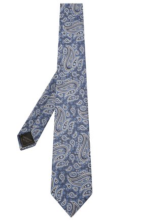Мужской комплект из галстука и платка BRIONI синего цвета, арт. 08A900/P0456   Фото 2 (Материал: Текстиль, Шелк)