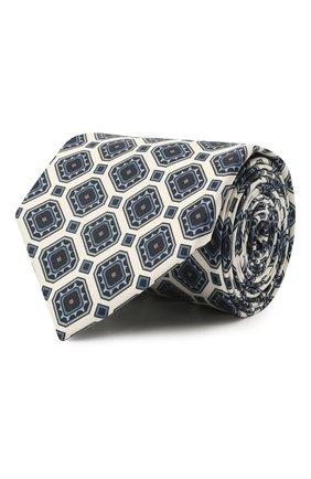 Мужской комплект из галстука и платка BRIONI белого цвета, арт. 08A900/P042H | Фото 1