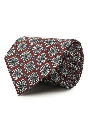 Мужской комплект из галстука и платка BRIONI бордового цвета, арт. 08A900/P042H   Фото 1 (Материал: Текстиль, Шелк)