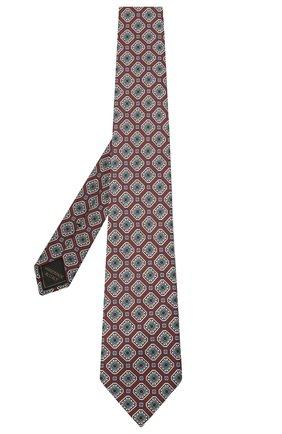 Мужской комплект из галстука и платка BRIONI бордового цвета, арт. 08A900/P042H   Фото 2 (Материал: Текстиль, Шелк)