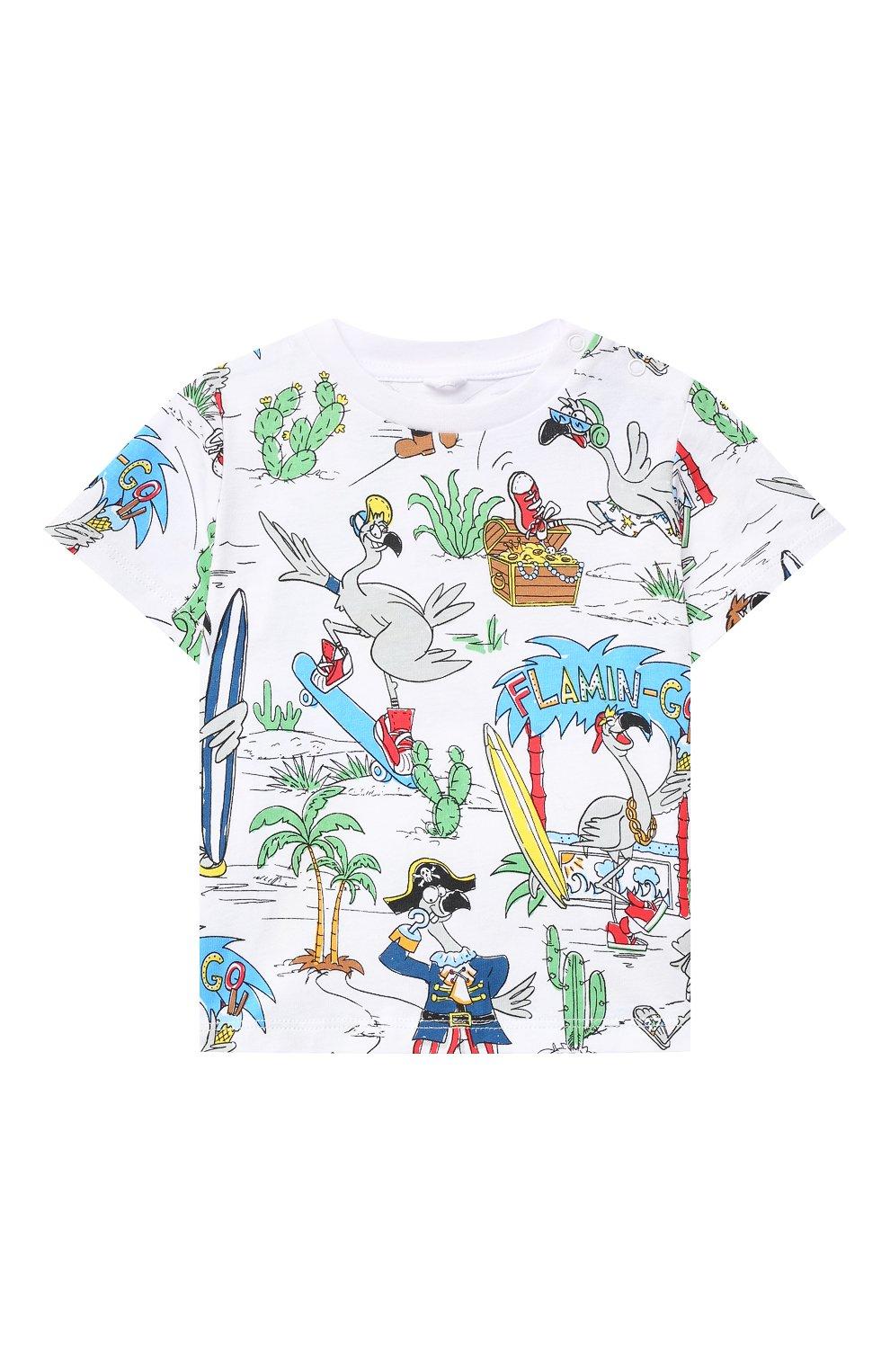 Детский хлопковая футболка STELLA MCCARTNEY разноцветного цвета, арт. 602270/SQJ67 | Фото 1