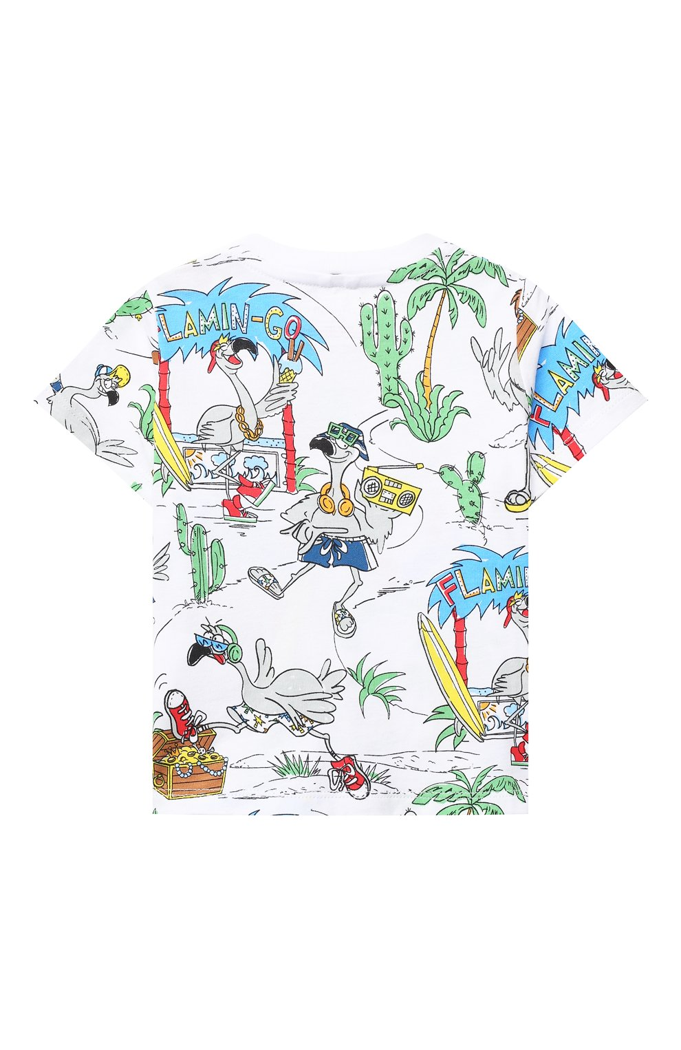Детский хлопковая футболка STELLA MCCARTNEY разноцветного цвета, арт. 602270/SQJ67 | Фото 2