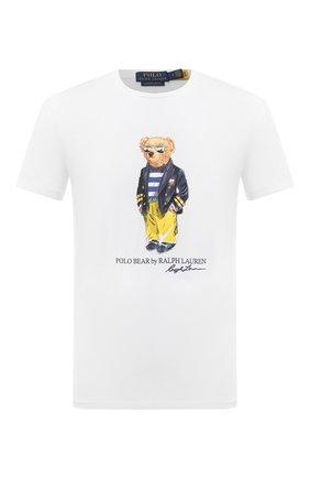 Мужская хлопковая футболка POLO RALPH LAUREN белого цвета, арт. 710837306 | Фото 1